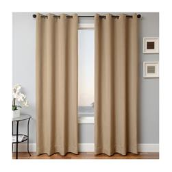 Sunbrella 84'' Solid Grommet Outdoor Panel Heather Beige