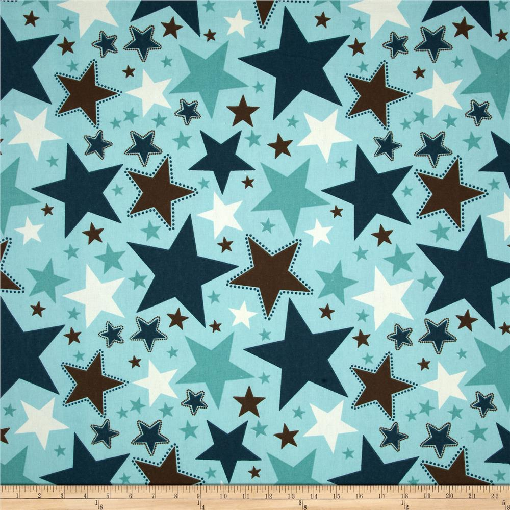 Riley blake home decor all star blue discount designer for Star design fabric