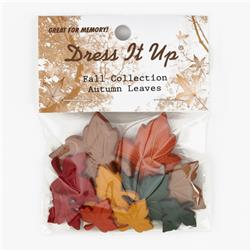 Dress It Up Embellisment Buttons  Autumn Leaves