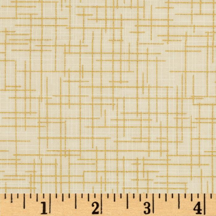 Quilter's Linen Metallic Ivory Fabric By The Yard