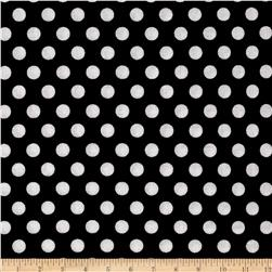 Michael Miller Kiss Dot Black Fabric
