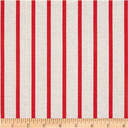 Michael Miller Textured Basics Stripe Red Fabric