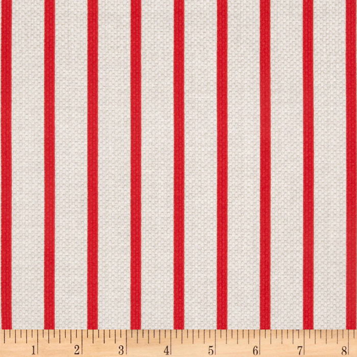 Michael Miller Textured Basics Stripe Red
