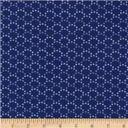 Monterey Dotted Arcs Navy Blue