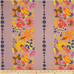 Field Day Small Floral Stripe Purple Fabric