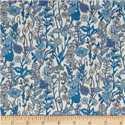 Liberty of London Flowers Lawn White/Blue