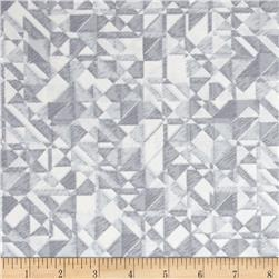 108 In. Quilt Wide Back Prisms Grey/White