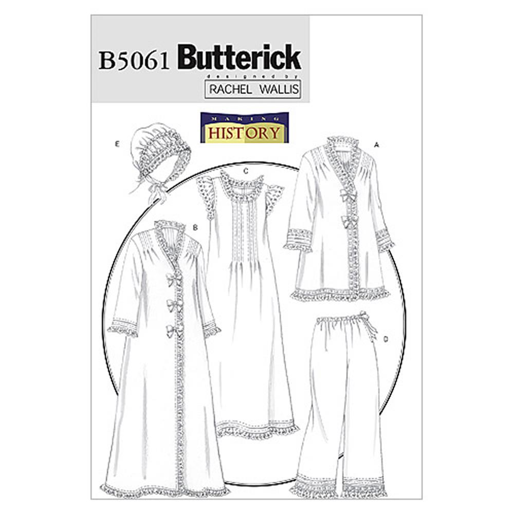 Butterick Misses' Jacket, Robe, Nightgown, Pants and Hat