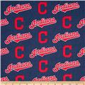 MLB Cotton Broadcloth Cleveland Indians Navy/Red