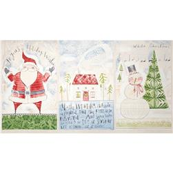 "Merry Stitches A Wonderful Time 24"" Panel Multi"