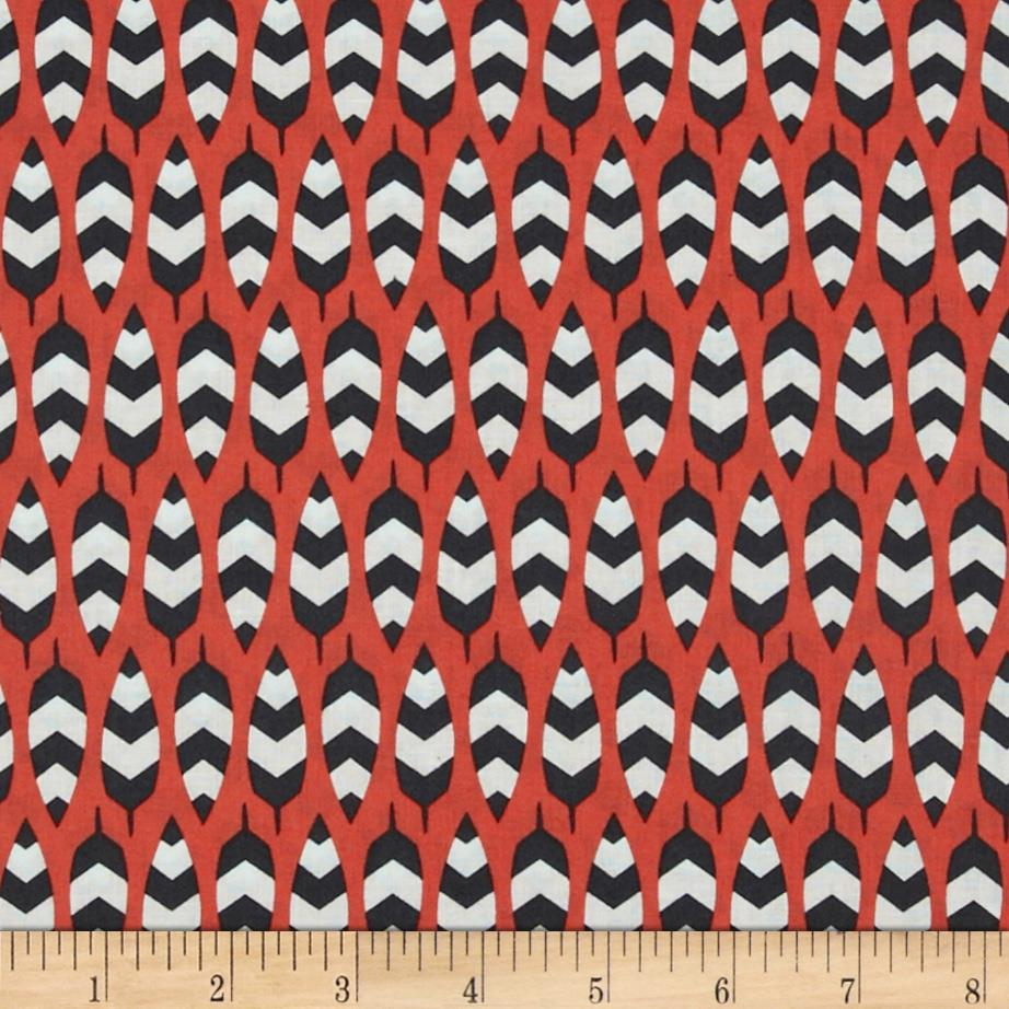 Enchanted Organic Zig Zag Feathers Coral