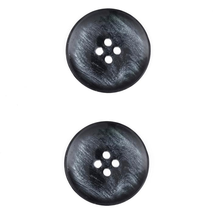 Fashion Button 1'' Flagstaff Black