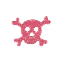Skull with Felt Applique Pink
