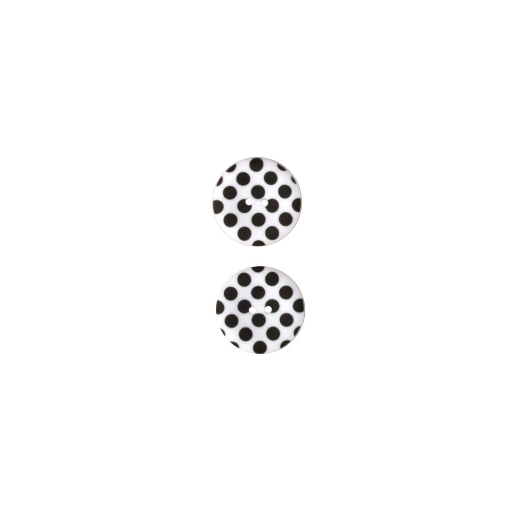 Riley Blake Sew Together 1 1/2 Matte Button Dots Black