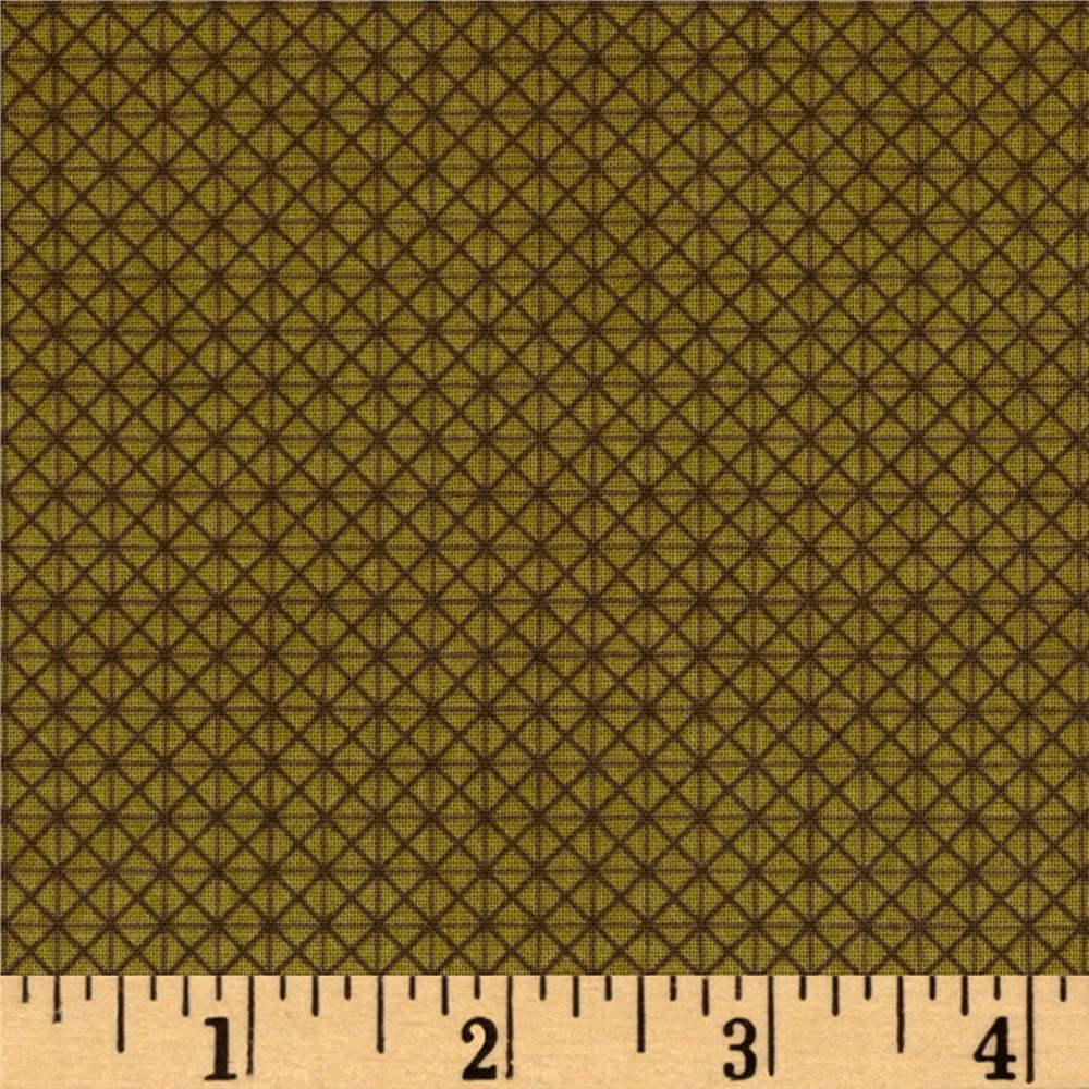 Windham Textured Leaves Graphic Texture  Olive