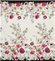 Voile Floral Black/White/Pink