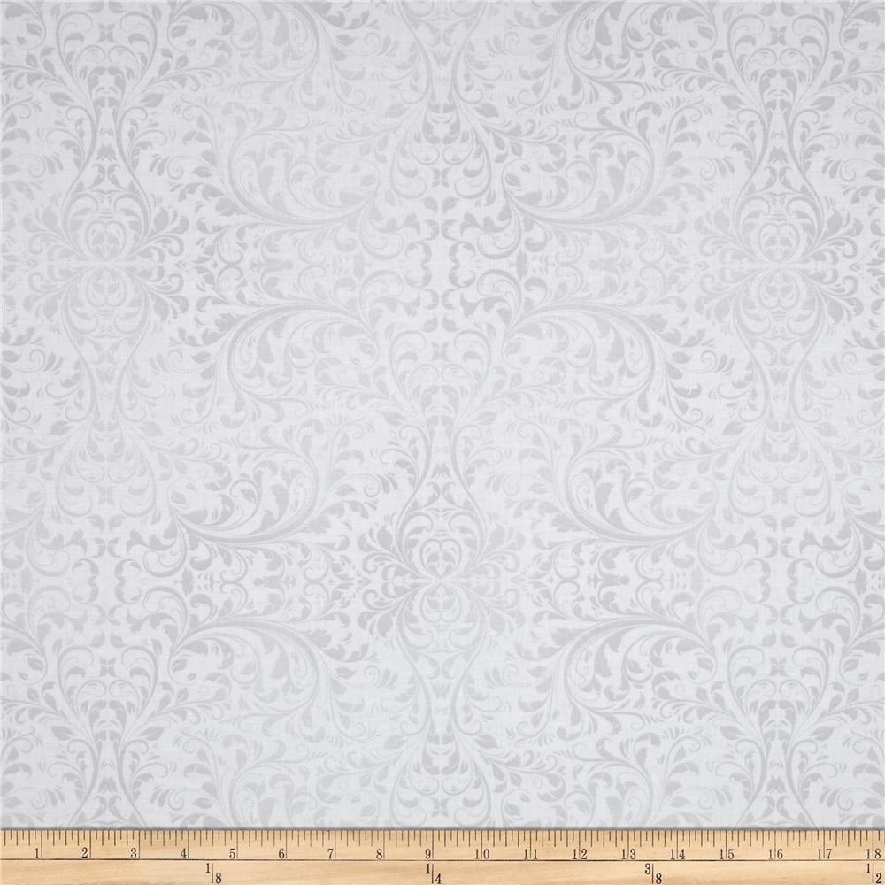Holiday Elegance Damask White