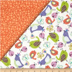 Tweet Double Sided Quilted Birds & Bugs Multi