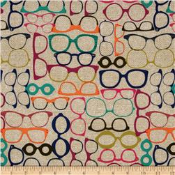 Michael Miller Urbanista 20/20 Glasses Jewel Fabric