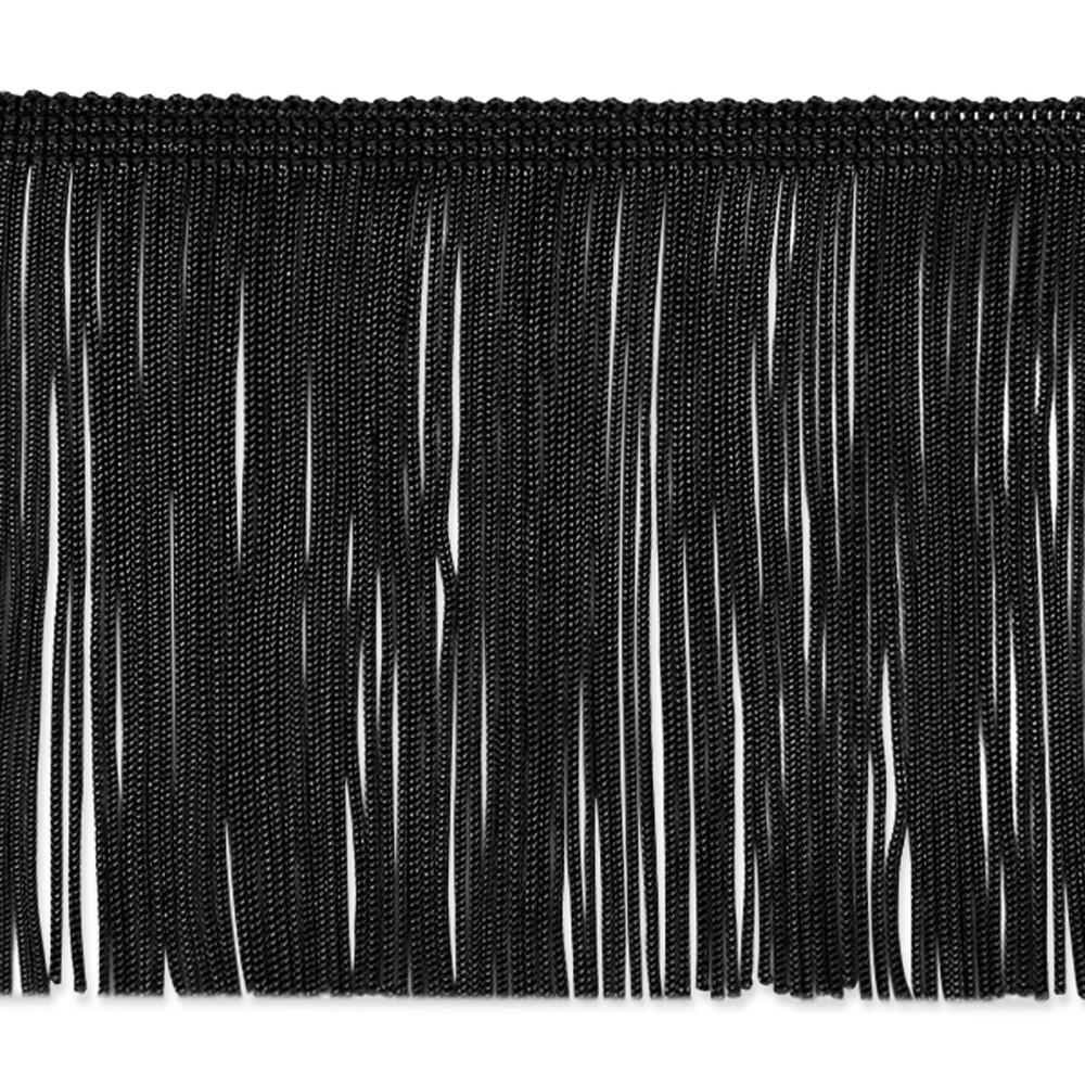 "4"" Chainette Fringe Trim Black"