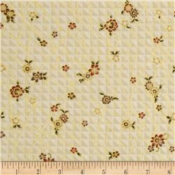 Narumi Metallic Mini Floral Cream/Gold Fabric