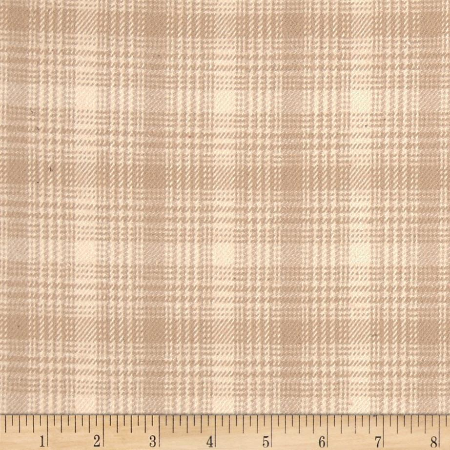 Primo Plaids V Flannel Plaid Light Tan Fabric By The Yard