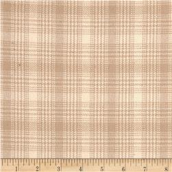 Primo Plaids V Flannel Plaid Light Tan Fabric