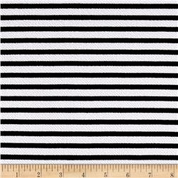 Liverpool Double Knit Print Stripes White/Black