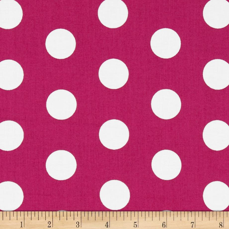Let's Play Dolls Dots Hot Pink