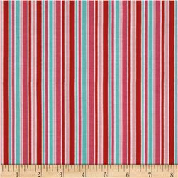 Riley Blake Lovey Dovey Stripes Red Fabric