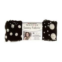 Red Heart Boutique Sassy Fabric Black Dot