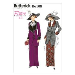 Butterick Misses' Jacket, Bib and Skirt Pattern B6108 Size A50