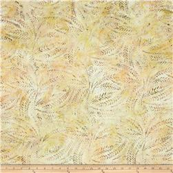 Batavian Batiks Fern Leaves Tan/Yellow