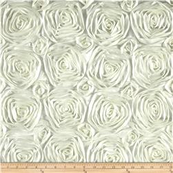 Wedding Rosette Satin Dark Ivory