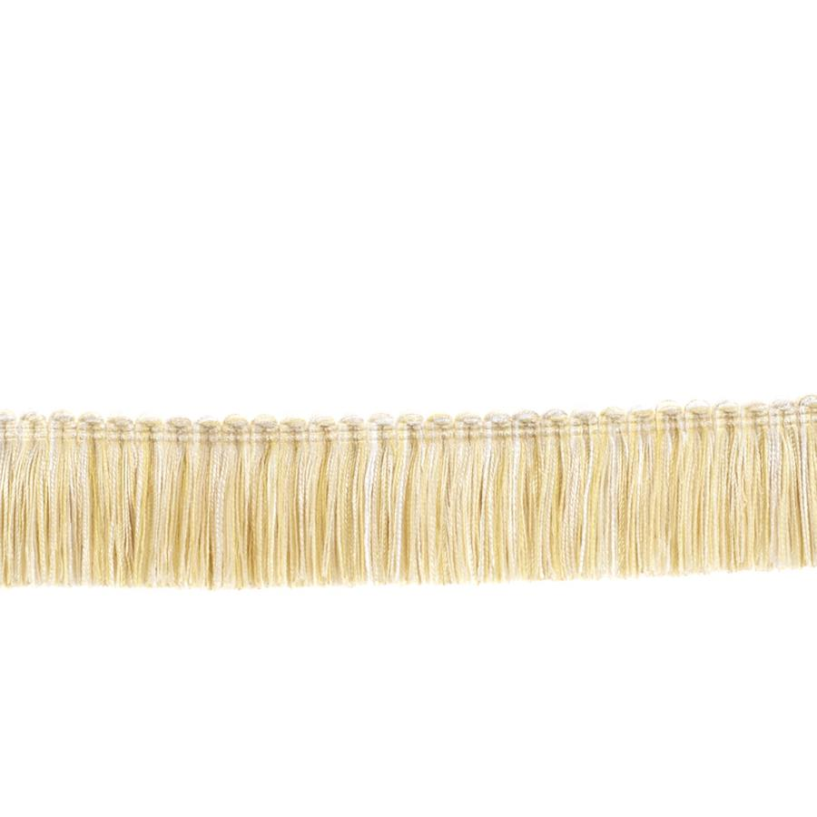 "Fabricut 1.5"" Escargot Brush Fringe Alabaster"