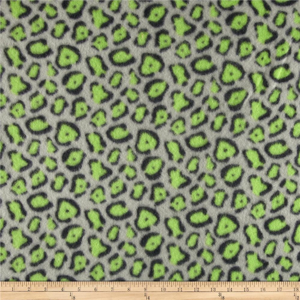 Fleece Print Geo Gray/Green/Black