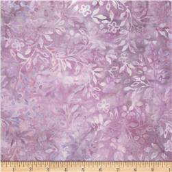 Wilmington Batiks Tiny Leaves and Flowers Light Purple