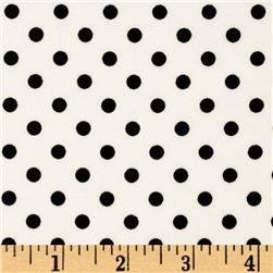 Michael Miller Dumb Dot Ebony White/Black Fabric