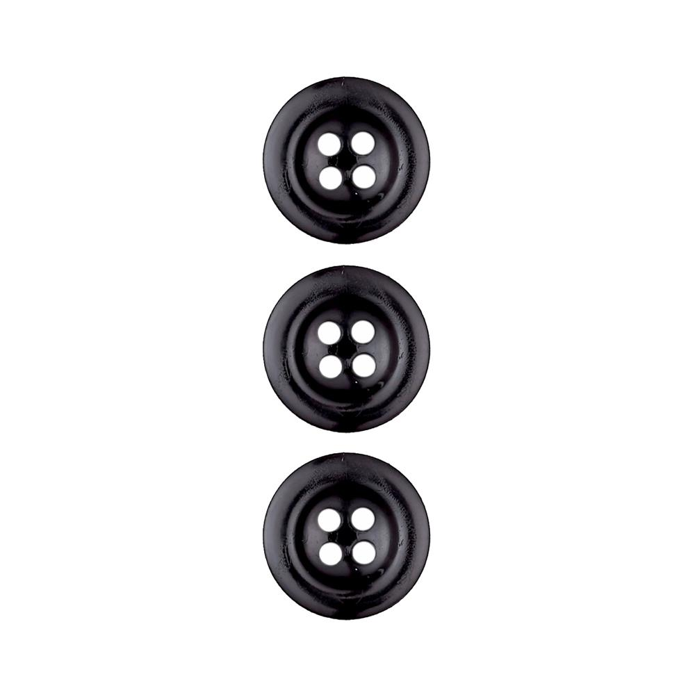 Dill Button 11/16'' Polyamid Button Black