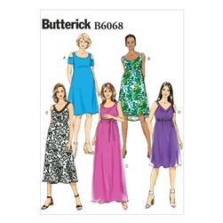 Butterick Misses' Maternity Dress and Belt Pattern B6068 Size A50