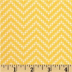 Moda Fresh Air Dotted Chevron Yellow