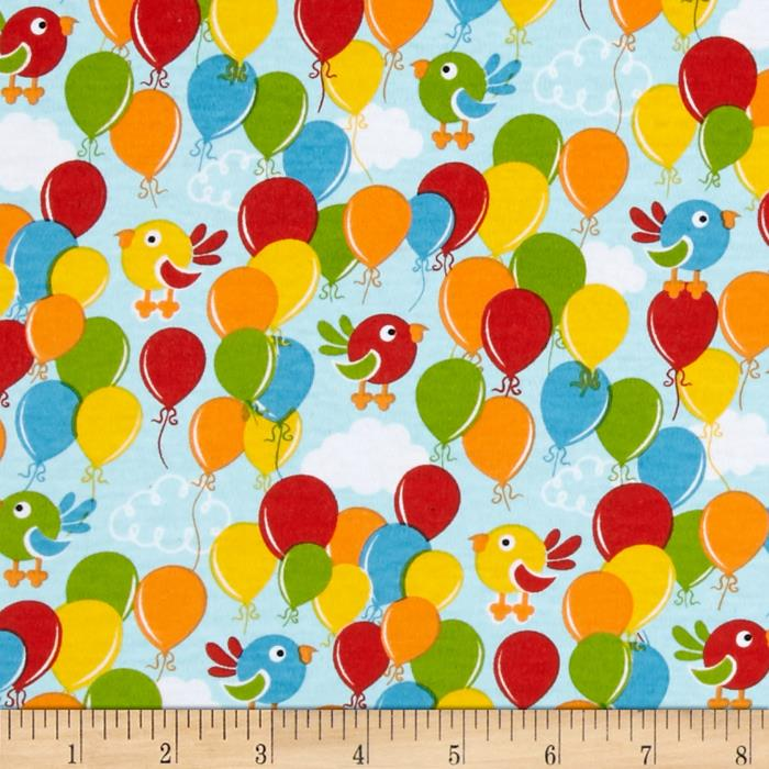 Birds & Balloons Interlock Knit Multi