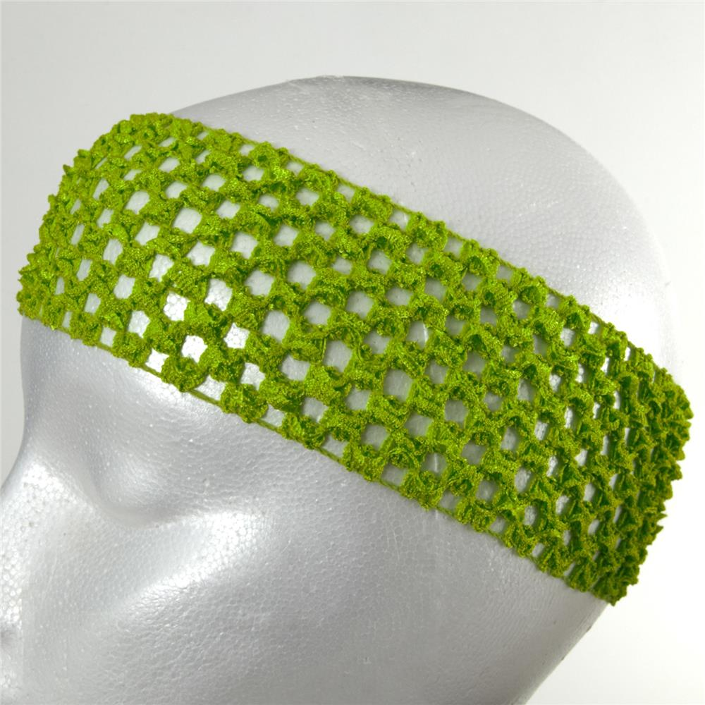 "2 3/4"" Crochet Headband Lime"