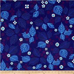 The Lovely Hunt Large Leaf & Flowers Blue