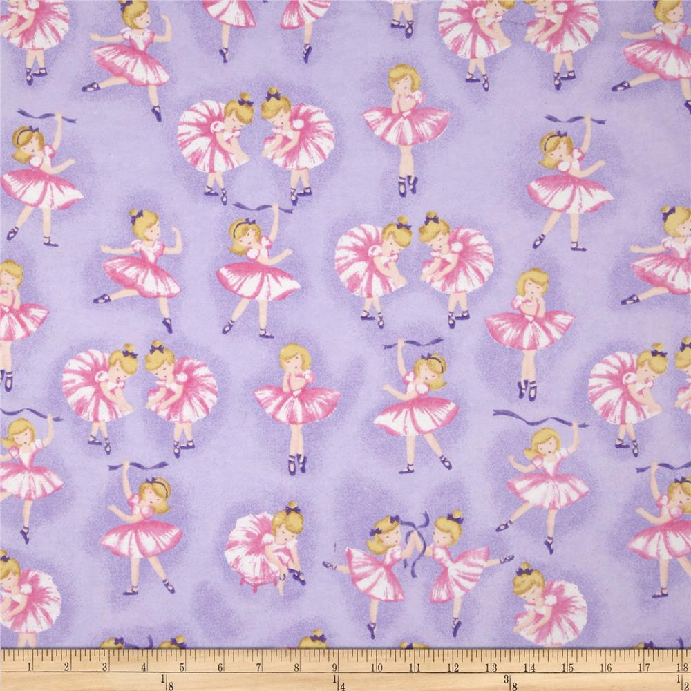 Comfy Flannel Ballerina's Purple