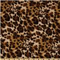 Laguna Stretch Cotton Jersey Knit Leopard Tawny