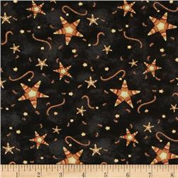 On the Web Candy Corn Stars Black