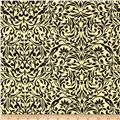 My True Love Gave to Me Damask Linen/Black