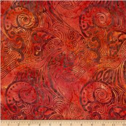 Timeless Treasures Tonga Batik Birds of Paradise Tribal Leaf Guava