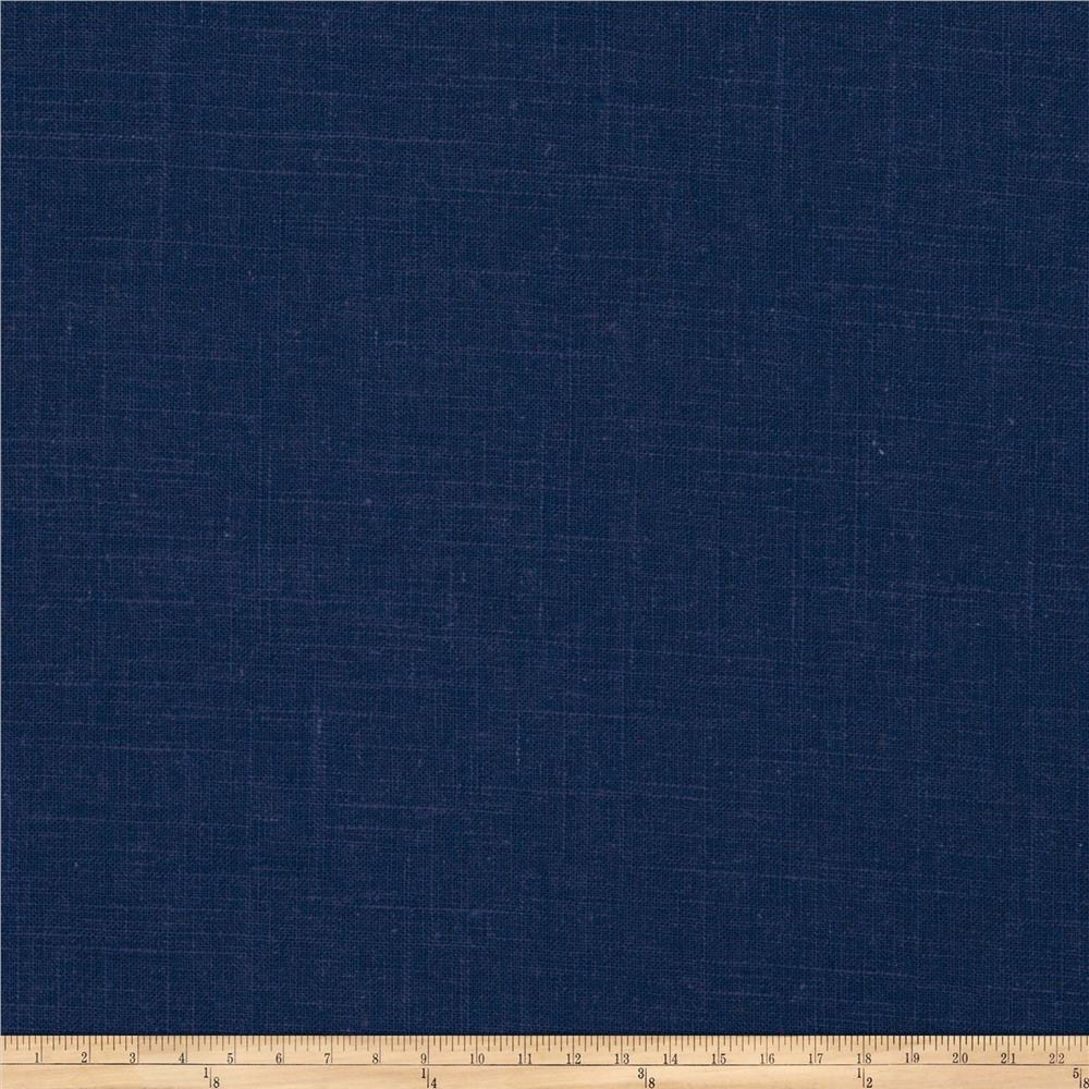 Fabricut Haney Linen Viscose Navy